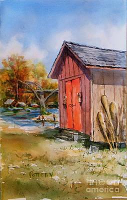 Painting - Cotter Shed by Virginia Potter