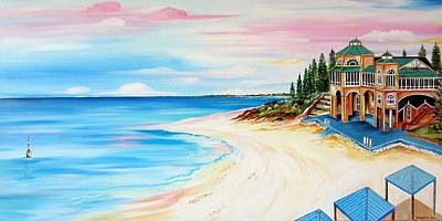 Painting - Cottesloe Beach Indiana Tea House by Roberto Gagliardi
