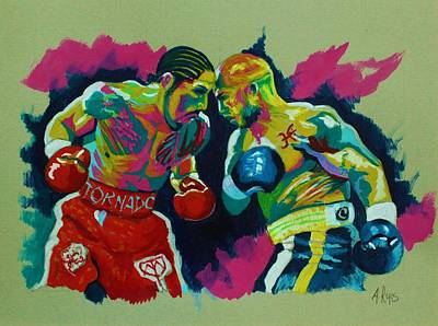 Painting - Cotto Vs Margarito by Angel Reyes