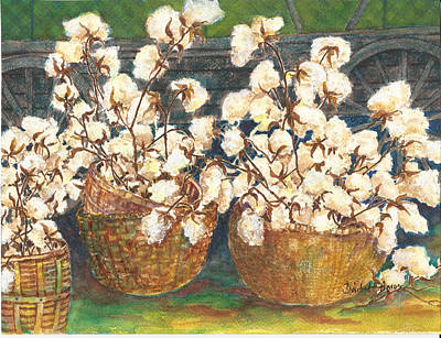 Painting - Cotton Basket by Barbel Amos