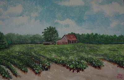 The Cotton Field Painting - Cotton Be Gone by Virginia Bond