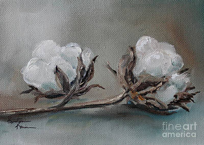 Painting - Cotton Bolls by Kristine Kainer