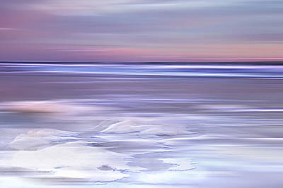 Seafoam Abstract Photograph - Cotton Candy Beach by Evie Carrier