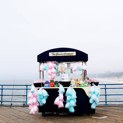 Santa Monica Photograph - Cotton Candy Carousel- By Linda Woods by Linda Woods