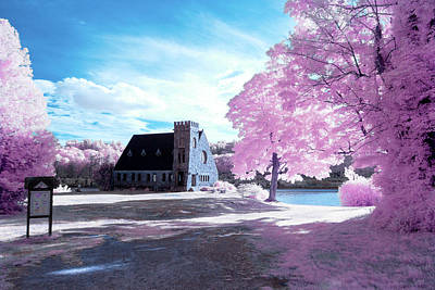 Photograph - Cotton Candy Church  by Brian Hale