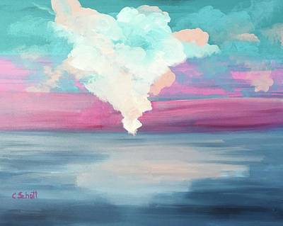 Painting - Cotton Candy Clouds by Christina Schott