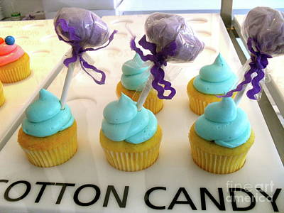 Art Print featuring the photograph Cotton Candy Cupcakes by Beth Saffer