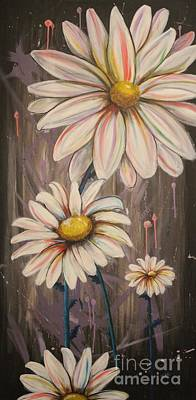Painting - Cotton Candy Daisies by Vikki Angel