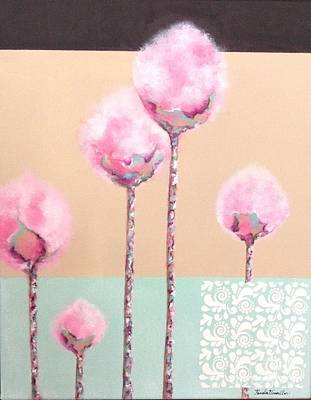 Painting - Cotton-candy Florals by Pamela Vosseller