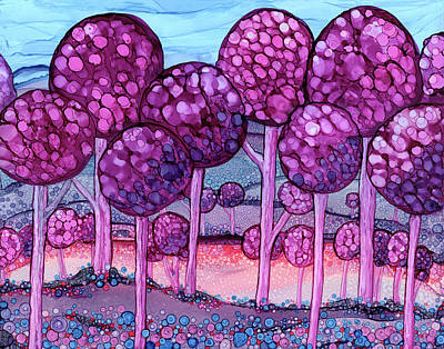 Painting - Cotton Candy Forest by Jennifer Allison