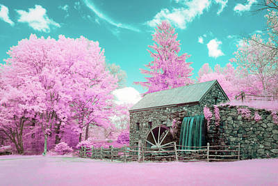 Photograph - Cotton Candy Grist Mill by Brian Hale