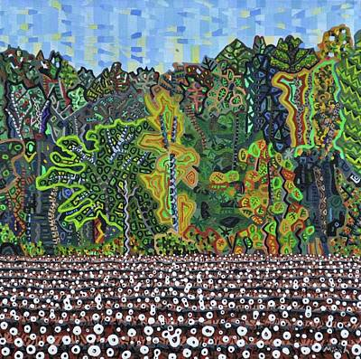 Cotton Field Painting - Cotton Field Off Highway 64 - 3 by Micah Mullen