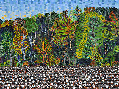 Cotton Fields Painting - Cotton Field Off Highway 64 - 5 by Micah Mullen