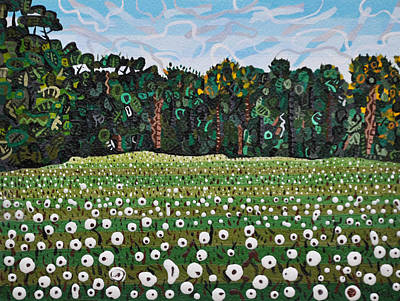 Cotton Fields Painting - Cotton Field Off Highway 64 by Micah Mullen