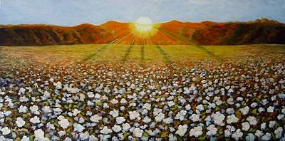 Painting - Cotton Field Sunset by Jeanette Jarmon