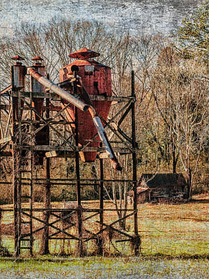 Cotton Gin In Vincent Alabama Art Print by Phillip Burrow