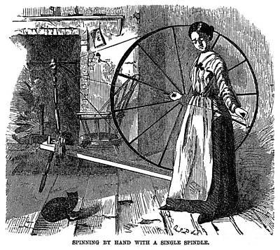 Cotton: Hand-spinning Art Print by Granger