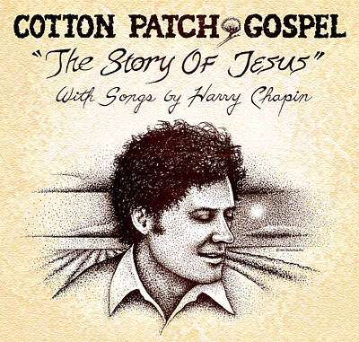 Stippling Drawing - Cotton Patch Gospel Harry Chapin by Cristophers Dream Artistry