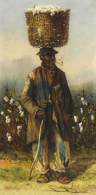 Negro Painting - Cotton Pickers - A Man by William Walker