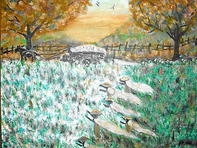 Cotton Pickers Art Print by BJ Abrams