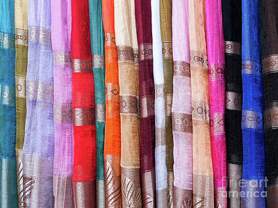 Photograph - Cotton Scarves 01  by Rick Piper Photography