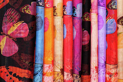 Photograph - Cotton Scarves 02  by Rick Piper Photography