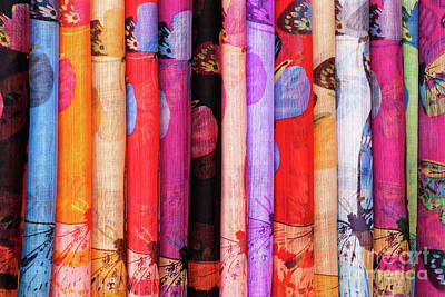 Photograph - Cotton Scarves 03  by Rick Piper Photography