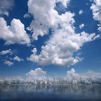 Cotton Sky Art Print by Philippe Sainte-Laudy