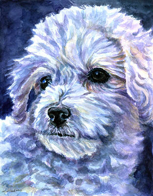 Bichon Frise Dog Painting - Cotton Top by Lyn Cook