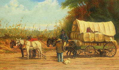 Negro Painting - Cotton Wagon by William Walker