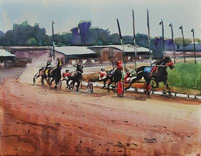 Harness Racing Painting - Cotton Wins by Spencer Meagher