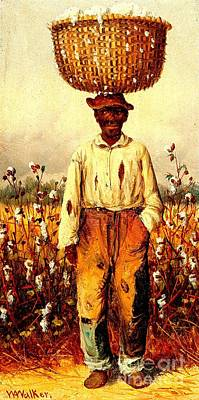 Painting - Cotton Picker 1865 by Peter Gumaer Ogden Collection