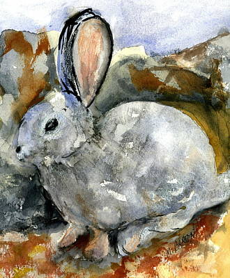 Painting - Cottontail In Camouflage by Marilyn Barton