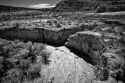 Photograph - Cottonwood Creek Water Drainage 1 Bw by Roger Snyder