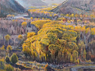 Painting - Cottonwood Grove by Steve Spencer