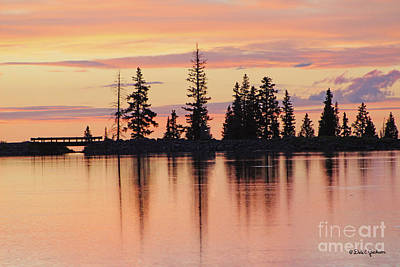 Photograph - Cottonwood Sunset Lake Reflections  by Dale E Jackson