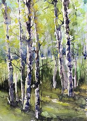 Painting - Cottonwoods And Sycamores by Robin Miller-Bookhout