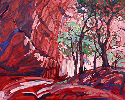 Painting - Cottonwoods At Chelly by Erin Hanson
