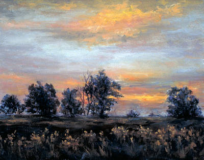 Painting - Cottonwoods At Sunset by Jill Musser