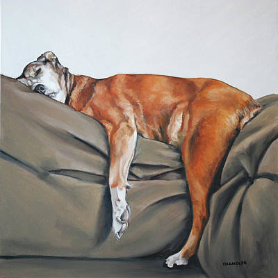 Painting - Couch Potato by Gail Chandler