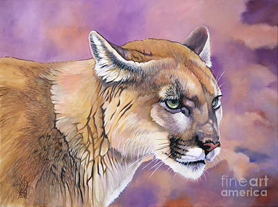 Painting - Cougar, Catamount, Mountain Lion, Puma by J W Baker