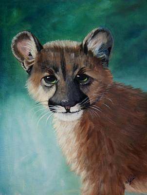 Painting - Cougar Cub by Joni McPherson