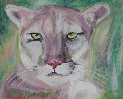 Painting - Cougar by Dan McGibbon