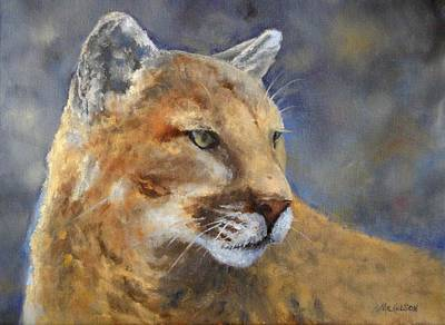 Cougar Painting - Cougar by Debra Mickelson