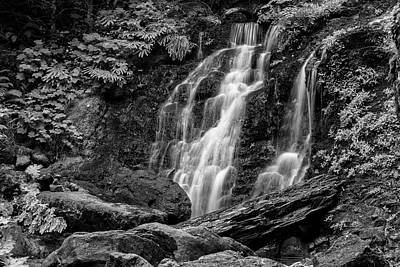 Creator Photograph - Cougar Falls - Black And White by Stephen Stookey