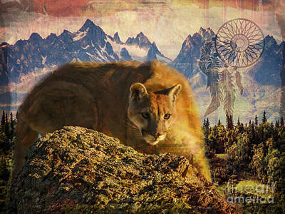 Digital Art - Cougar Medicine 2015 by Kathryn Strick