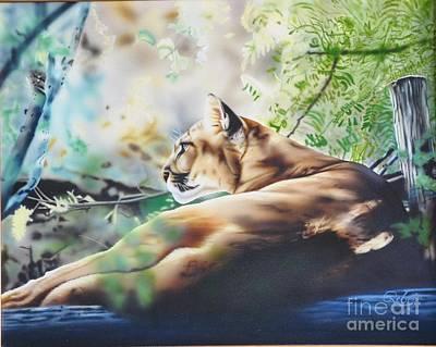 Texas Cougar Original by Rebel Dowdle
