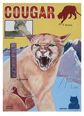 Painting - Cougar -visualisation by John Keaton