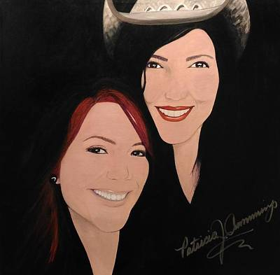 Painting - Cougrzz Rock Duo by Patricia Brewer-Cummings