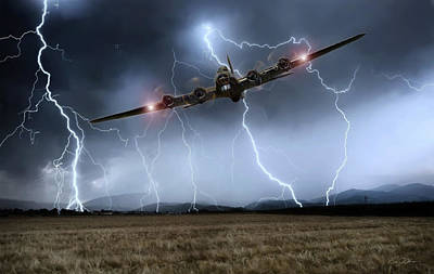 B-17 Wall Art - Digital Art - Couldn't Stand The Weather by Peter Chilelli